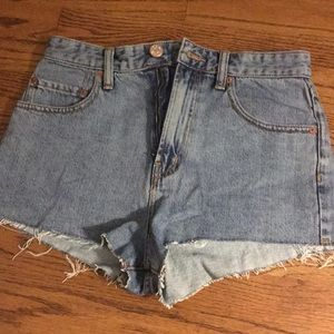 high waist cutoff shorts from Urban Outfitters